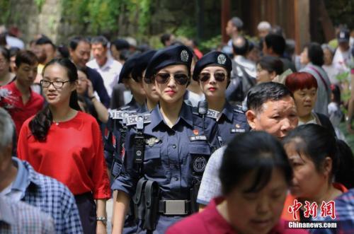 """杭州""""西湖女子巡逻队""""招新"""
