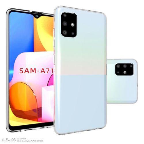 三星Galaxy A71手机最新带壳渲染图曝光 采用后置四摄