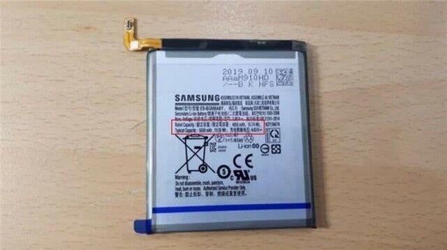 三星Galaxy S11+电池谍照曝光 内置5000mAh大容量电池