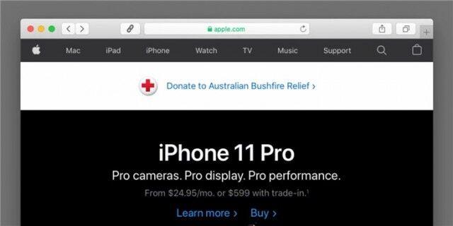 苹果发起募捐运动以帮助澳大利亚战胜毁灭性的森林大火