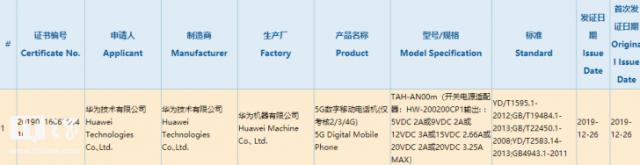 华为新款65W电源适配器曝光:重量约92克