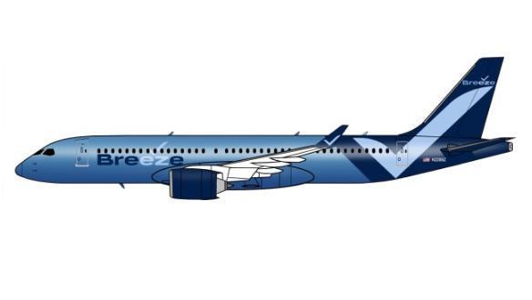 捷蓝航空向运输部提交营运新航空公司Breeze Airways的申请书 年底前将首航
