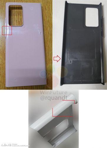 三星Galaxy Note 20系列模具曝光:矩阵式相机模组