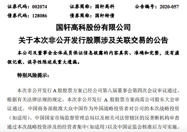 大众中国斥资80亿成为国内国轩高科最大股东